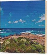 Western Australia Beach Panorama Wood Print