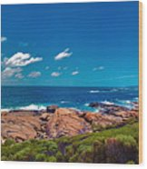 Western Australia Beach Panorama Margaret River Wood Print