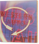 Western Auto Dream Wood Print