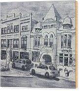 Western Avenue In Muskegon, Michigan Wood Print