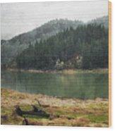 Western Cascades River Wood Print