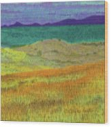 Western Edge Prairie Dream Wood Print