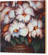 Western Flowers Wood Print