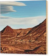 Western Mountain Scene Wood Print