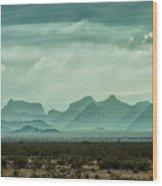Western Mountains Wood Print