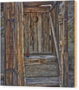 Western Outhouse Wood Print