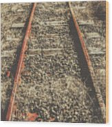 Western Railway Of Routes Forgotten Wood Print