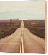 Western Road Wood Print