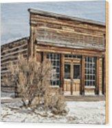 Western Saloon Wood Print