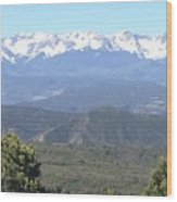 Western Slope Mountains Wood Print