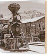 Western Train Wood Print
