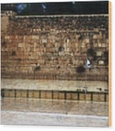 Empty Western Wall Wood Print
