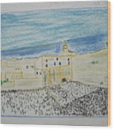 Western Wall.holly Land.color Pencils 1990 Wood Print