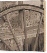 Western Window Wood Print