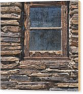 Western Window Wood Print