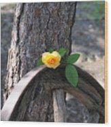 Western Yellow Rose Wood Print