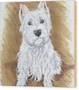 Westie Wood Print