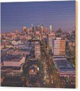 Westlake Los Angeles Aerial Wood Print