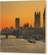 Westminster & Big Ben London Wood Print by Photos By Steve Horsley