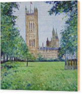 Westminster Abbey From Abbey Grounds London England 2003  Wood Print