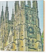 Westminster Abbey Postcard Wood Print