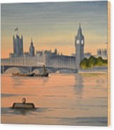 Westminster And Big Ben  Wood Print