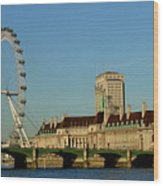 Westminster Bridge And London Eye Wood Print