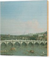 Westminster Bridge From The North With Lambeth Palace In Distance Wood Print