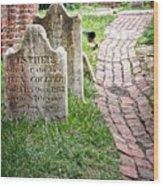 Westminster Burying Ground Wood Print