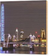 Westminster From Waterloo Bridge London Wood Print