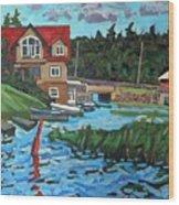 Westport Grist Mill Wood Print