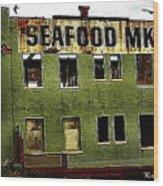 Westport Washington Seafood Market Wood Print