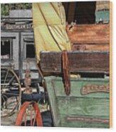 Westward Wagons Wood Print