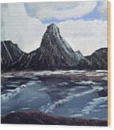 Wet Mountains Wood Print