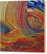Wet Paint - Run Colors Wood Print