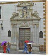 Wet People Door Cadiz Wood Print