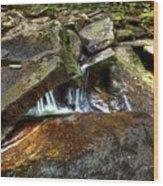 Wet Rocks Wood Print