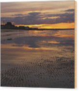 Wet Sand And Clouds 2 Wood Print