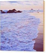 Wet Sand And Foam 2 Ae Wood Print
