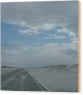 Wet Sand On Pensacola Beach Road Wood Print