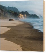 Wet Sand Wood Print