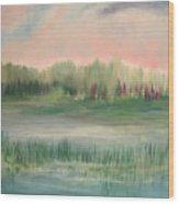 Wetland Solitude Wood Print