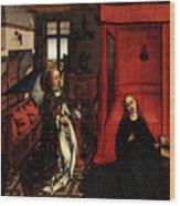 Weyden Annunciation Triptych Wood Print