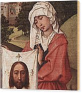 Weyden Crucifixion Triptych  Right Wing  Wood Print