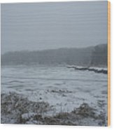 Weymouth Back River In A Snow Storm Wood Print