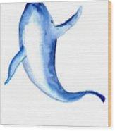 Whale 3 Wood Print