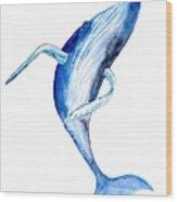 Whale 4 Wood Print