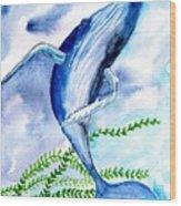 Whale 6 Wood Print