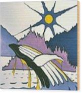 Whale-charlotte Islands Wood Print