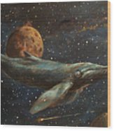 Whale Of The Universe Wood Print